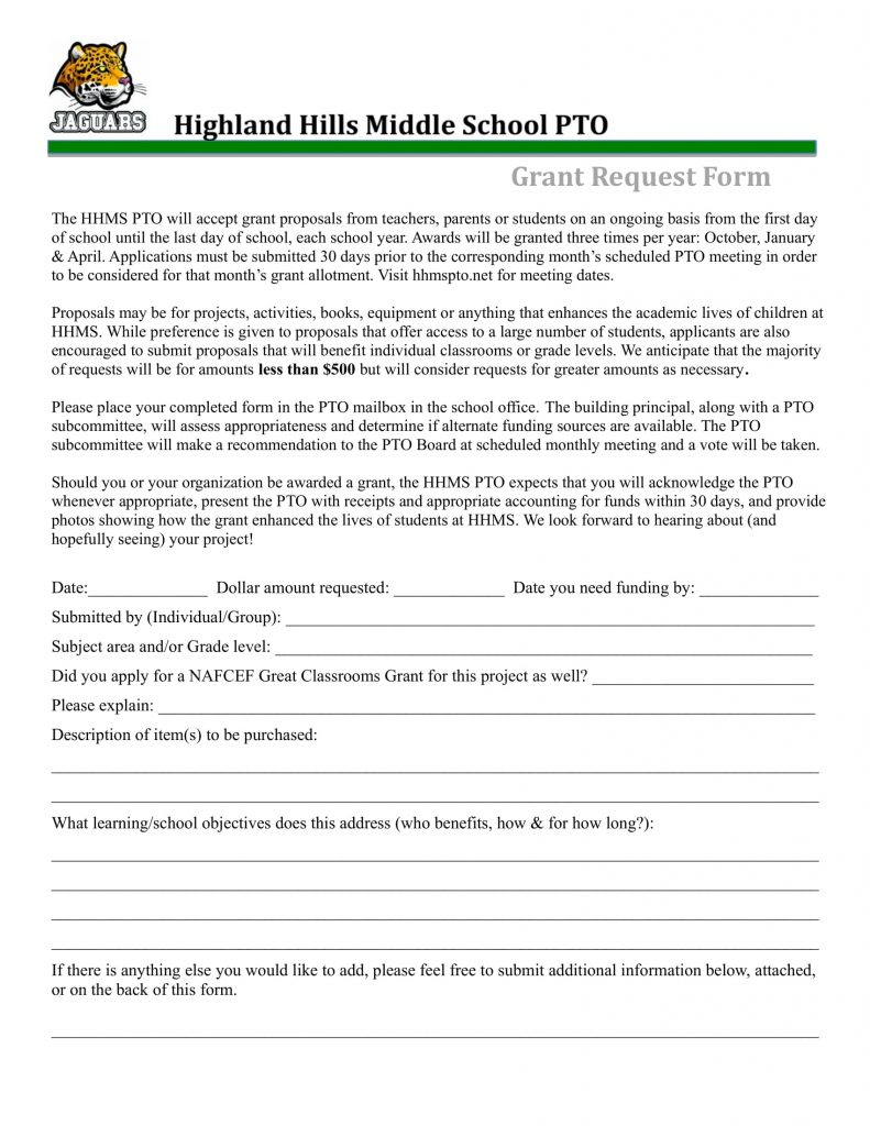 HHMS-PTO-Grant-Request-Form-1-791x1024 Teacher Grant Example Forms on grant family, grant name, grant report,